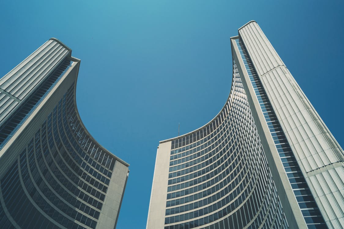 arquitectura, cel, edifici alt