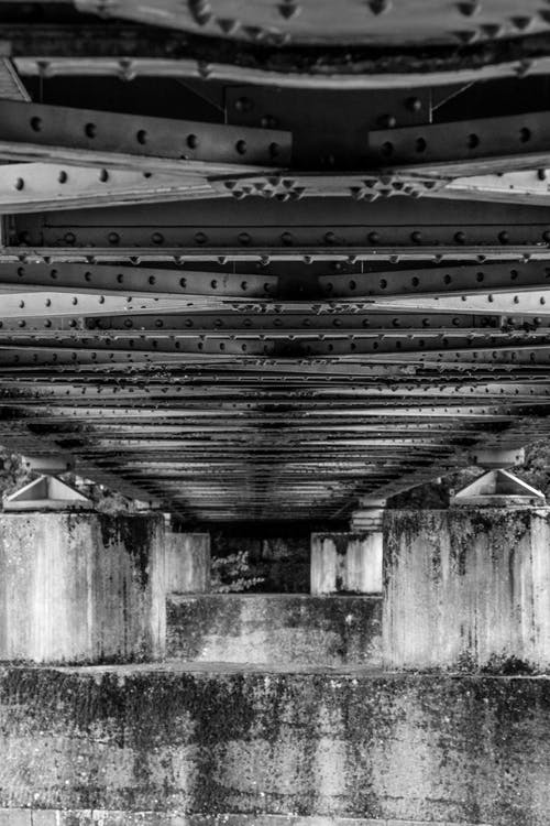 Free stock photo of black and white, bridge, contrast, industrial