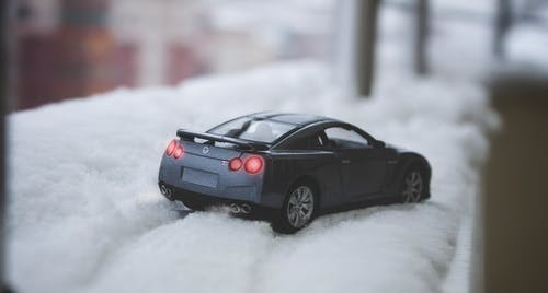 Close-up of Car on Snow