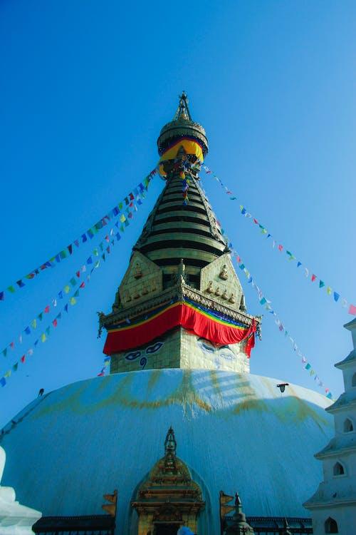 Free stock photo of buddhist temple, holy, swayambhu