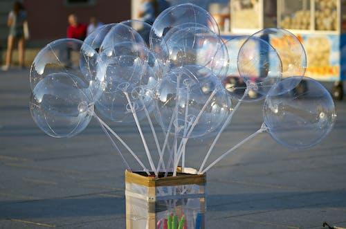 Imagine de stoc gratuită din alee pietonală, atracție turistică, baloane, baloane albastre