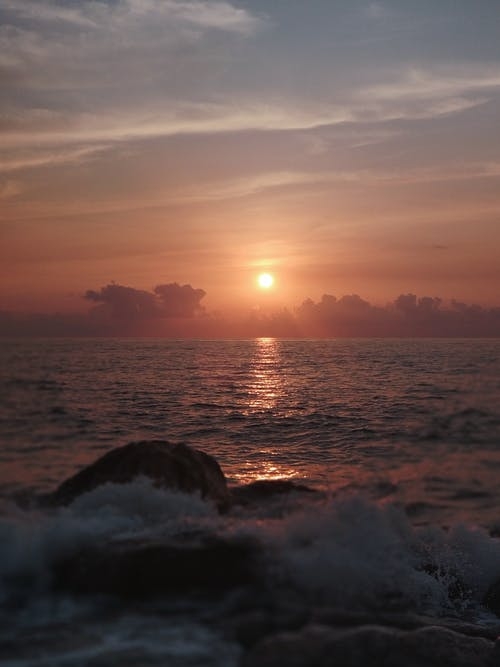 Fotos de stock gratuitas de agua, amanecer, anochecer, mar