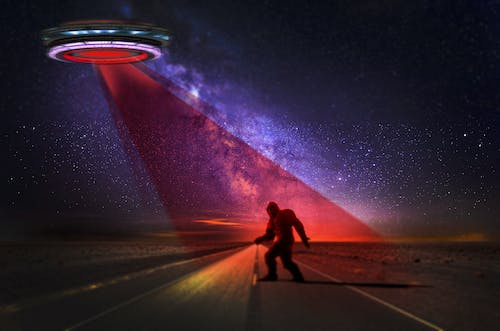 Free stock photo of bigfoot and ufo