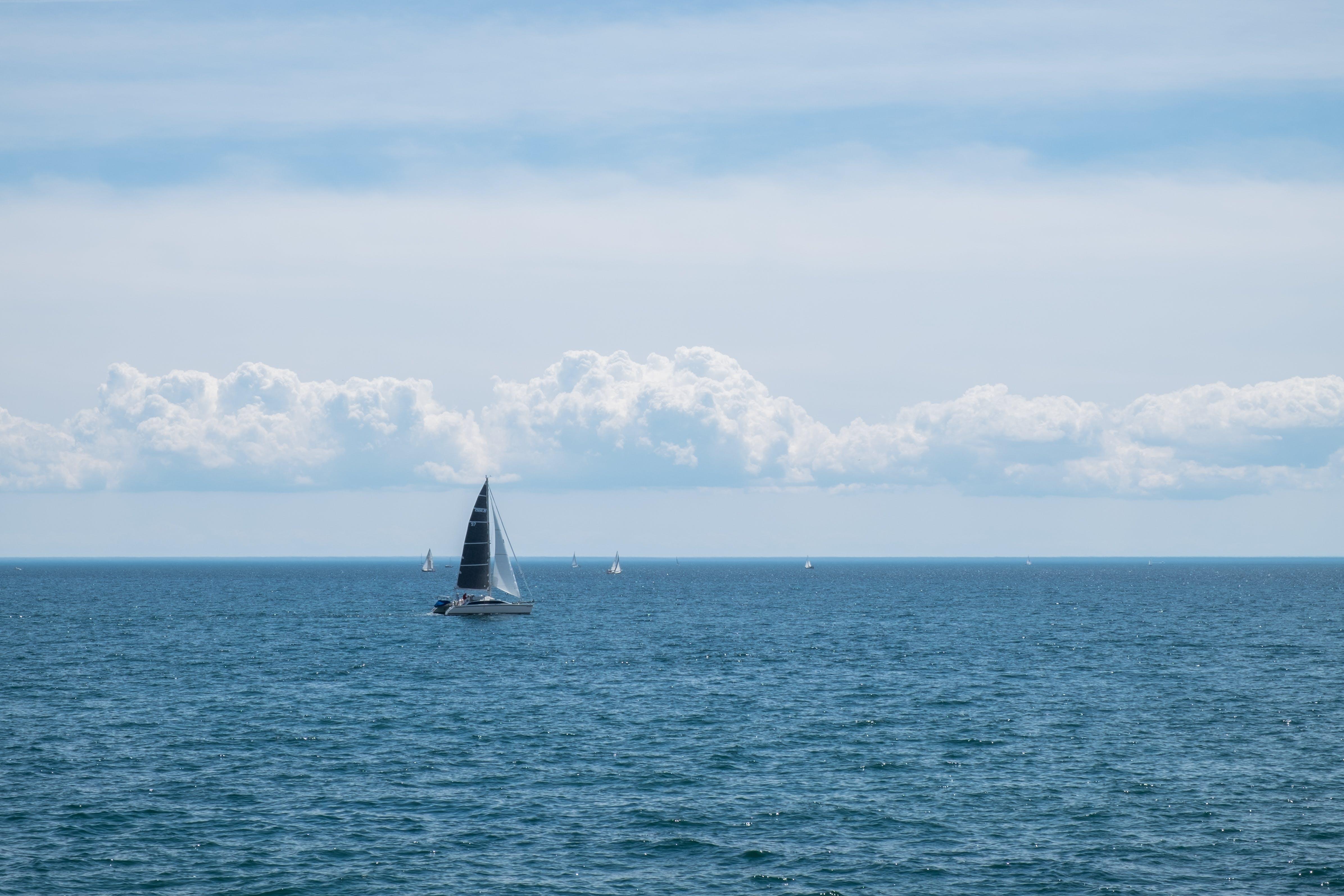 Foto d'estoc gratuïta de blau, estiu, navegar, oceà