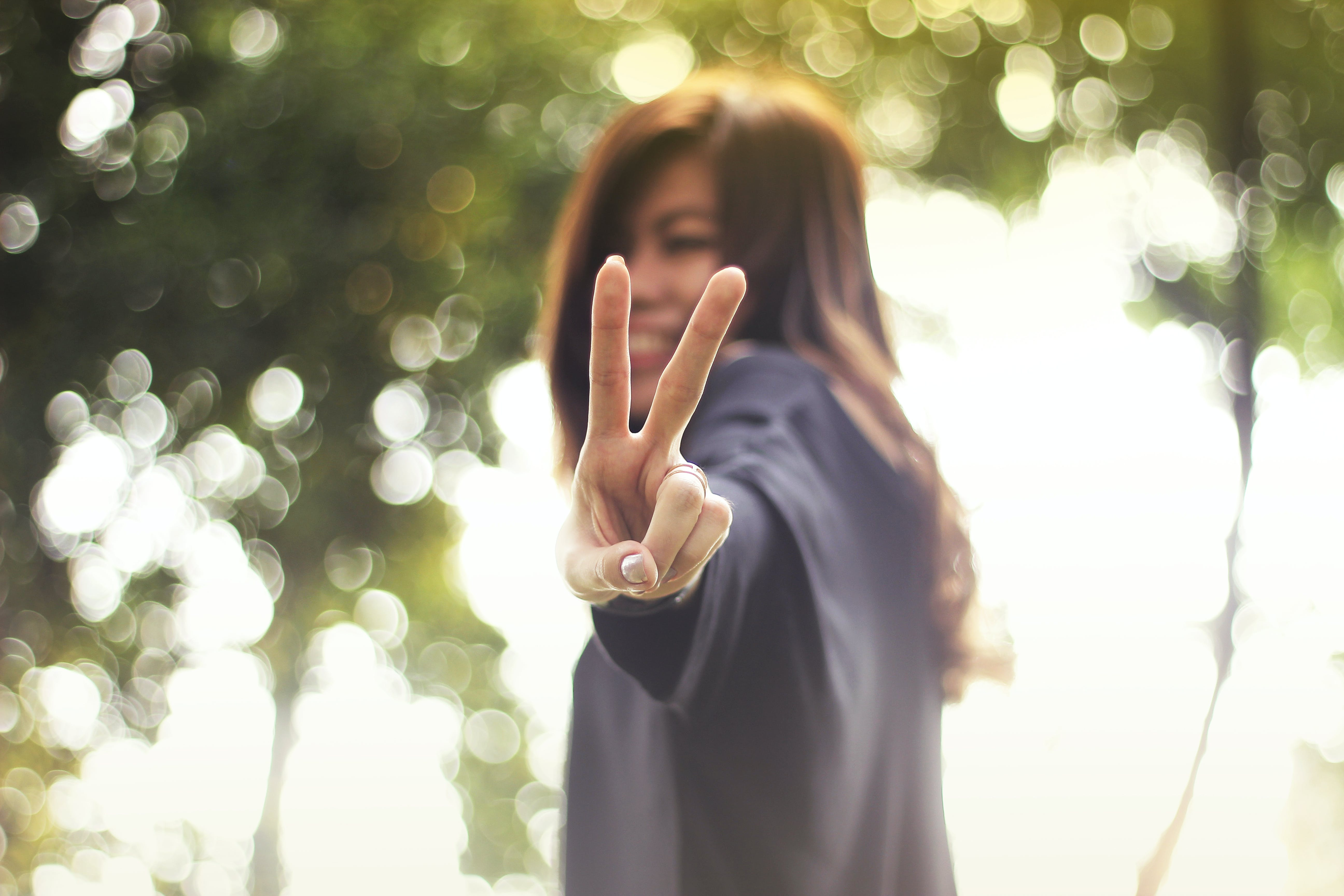 Portrait of Teenage Girl Playing Outdoors