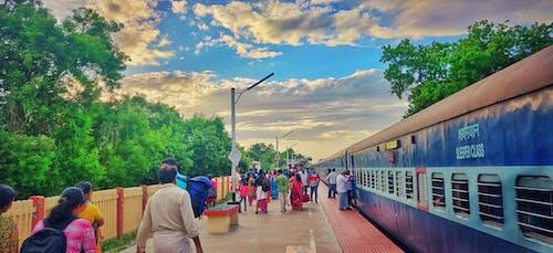Gratis lagerfoto af indiske jernbane, togperron, togstation