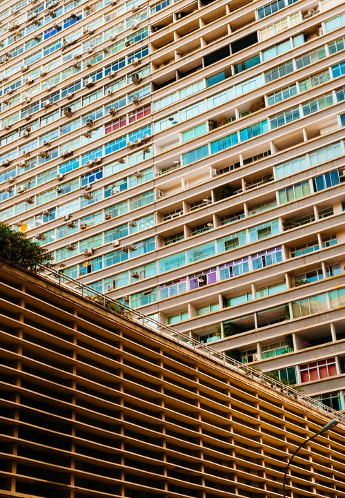 Architectural Photography of Beige City Building