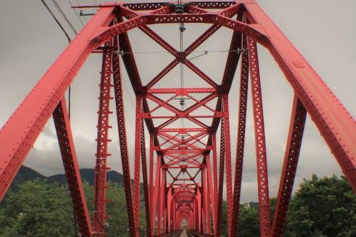 Foto d'estoc gratuïta de pont, pont vermell