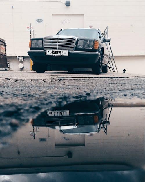 Ilmainen kuvapankkikuva tunnisteilla ajoneuvo, alakulma, auto, heijastava