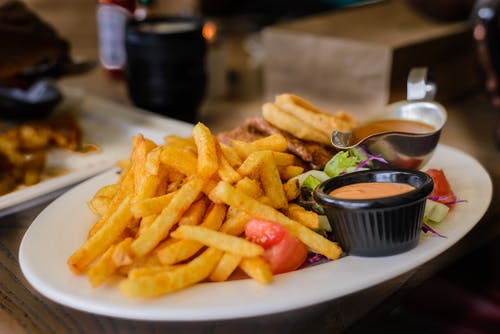 Fries on Plate
