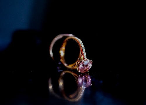 Gold Ring With Pink Gem