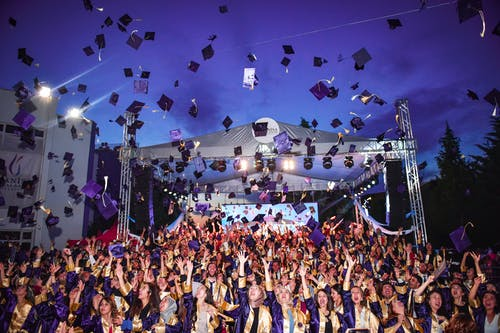 Foto d'estoc gratuïta de acadèmic, graduació, grau academic, insígnies acadèmiques