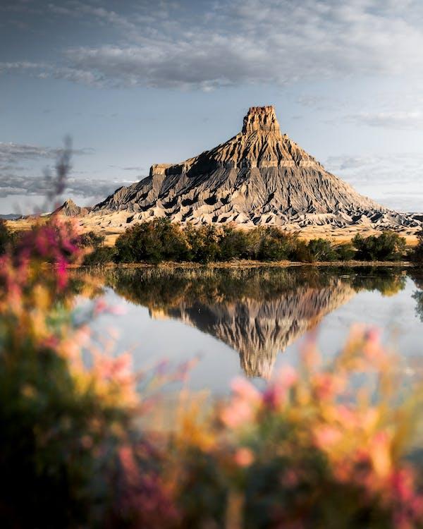 festői, hegy, látványos