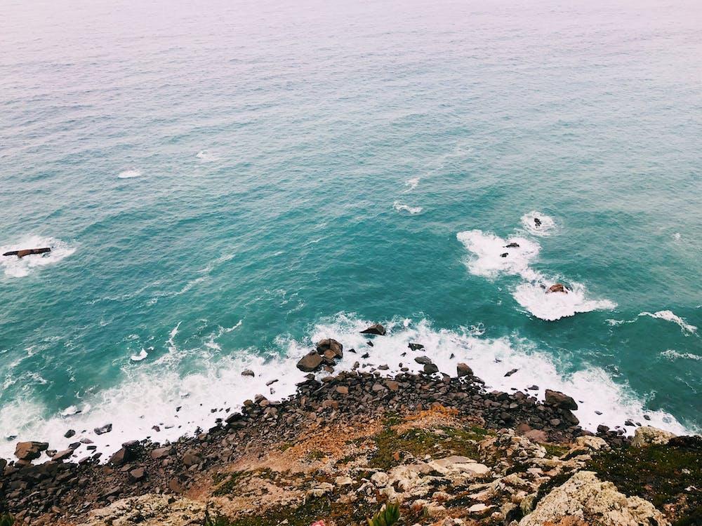 apă, coastă, coastă stâncoasă