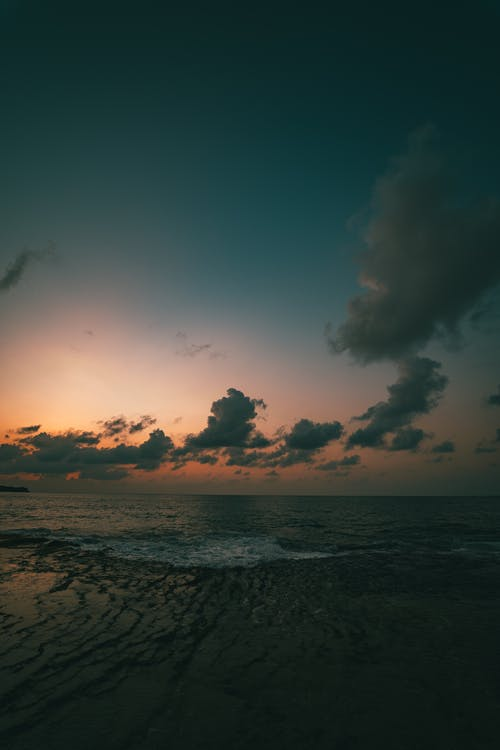 Δωρεάν στοκ φωτογραφιών με skyscape, ακτή, Ανατολή ηλίου, απόγευμα