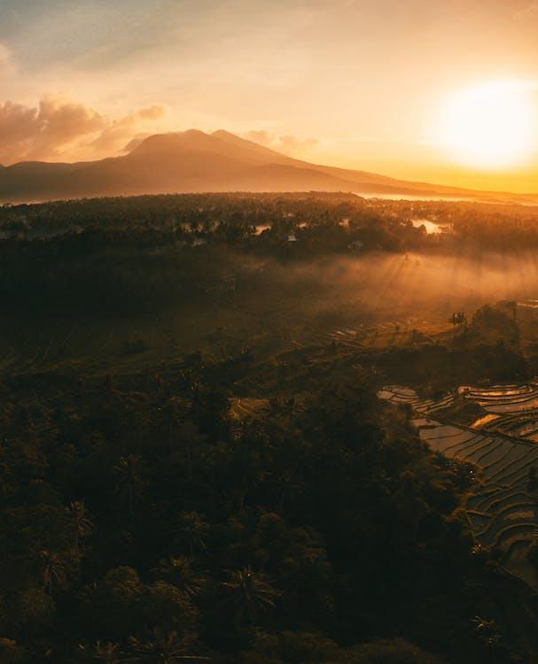 aften, Bali, bjerg