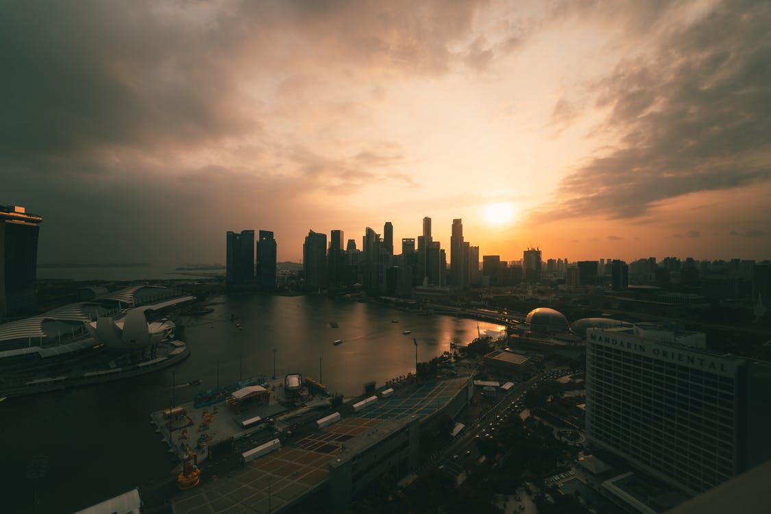 Photo of Singapore Cityscape During Golden Hour