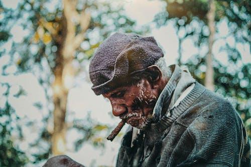Free stock photo of cigar, nature life, oldman, random