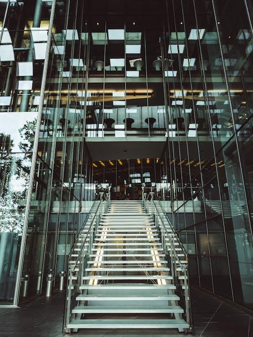 건축, 건축 설계, 계단, 실내의 무료 스톡 사진