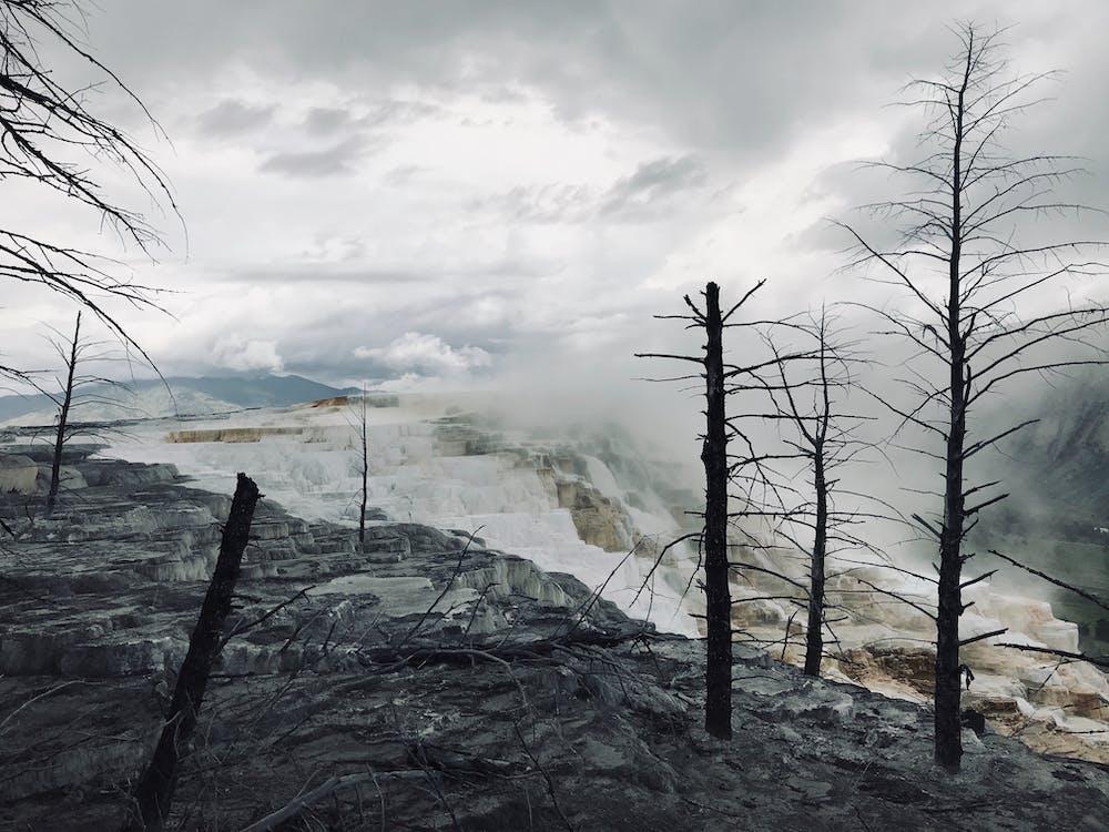 dark, death, geyser
