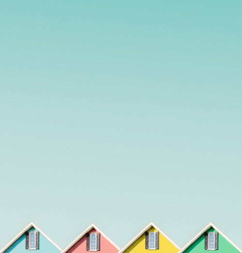 Four Colourful Houses