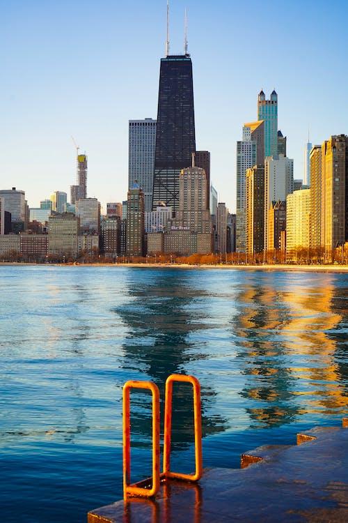 architektura, budynki, centrum chicago