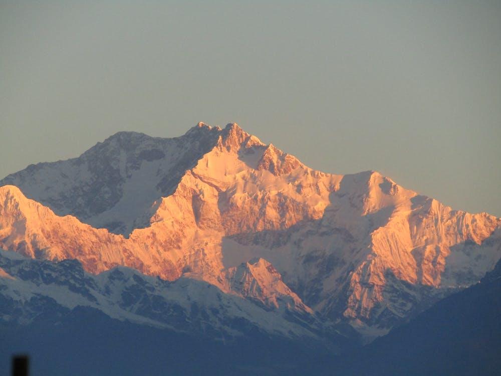 bjerg, dagslys, dal