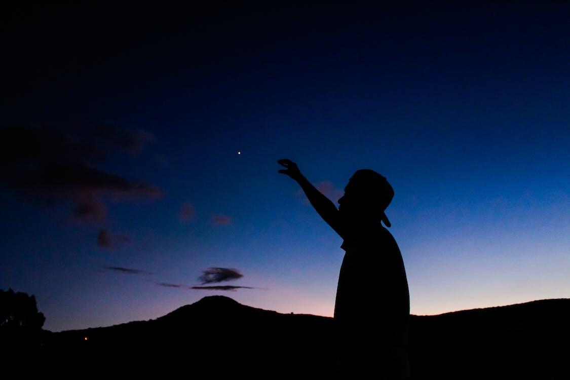великий план, вечір, зірка