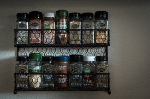 Free stock photo of kitchen, spice, spice rack, spices