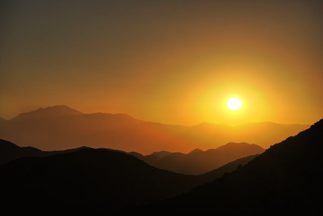 土地, 太陽, 山
