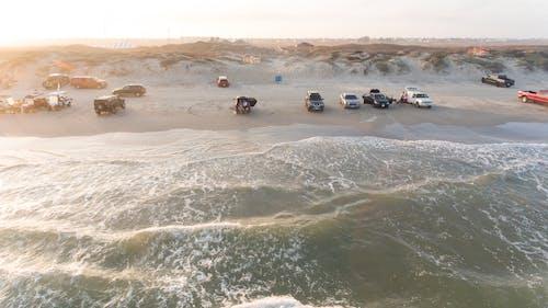 Gratis arkivbilde med biler, bølger, dronebilde, dronefotografi