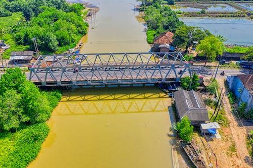 Aerial Photography of Black Bridge