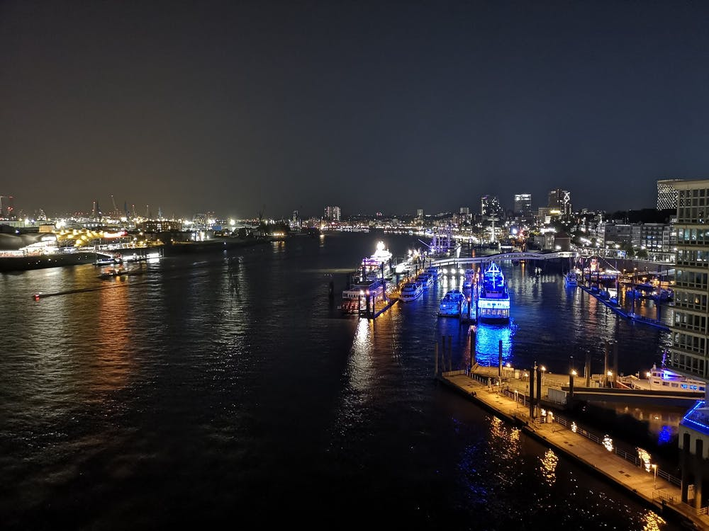 Kostnadsfri bild av båtar, elbphilharmony, hamburg
