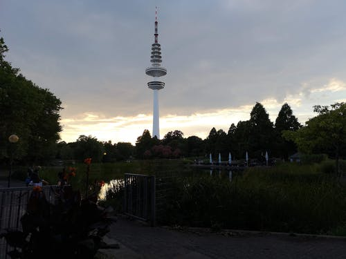 Free stock photo of hamburg, park, planten un blomen, tv tower