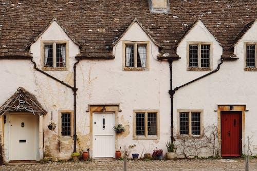성곽, 영국, 오래된 집들, 주택의 무료 스톡 사진