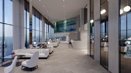 Immagine gratuita di architettura, camera, contemporaneo, divano