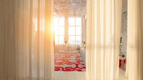 Kostenloses Stock Foto zu goldene stunde, hotel, innere, luxus