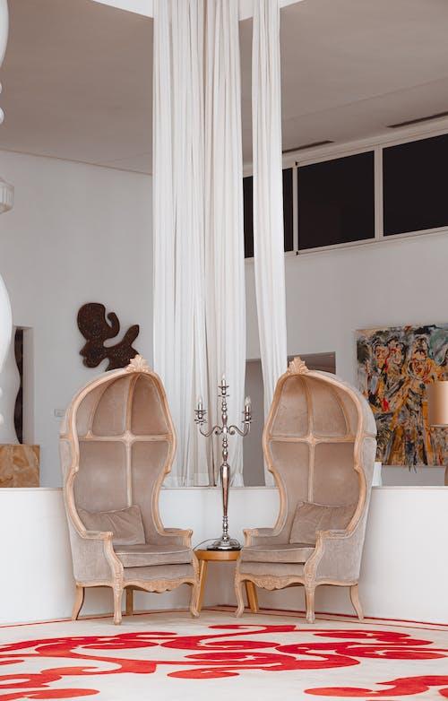 Kostenloses Stock Foto zu hotel, innere, luxus, stuhl