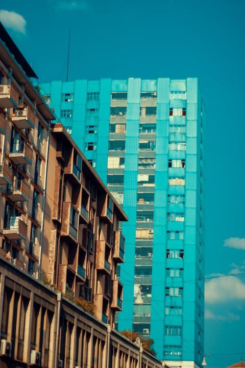 Immagine gratuita di architetto, architettonico, azzurro, build blu