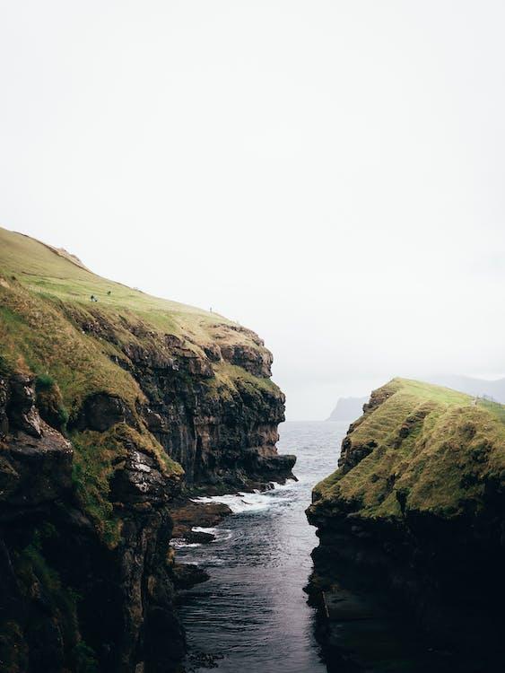 Sea Waves Crashing Cliff