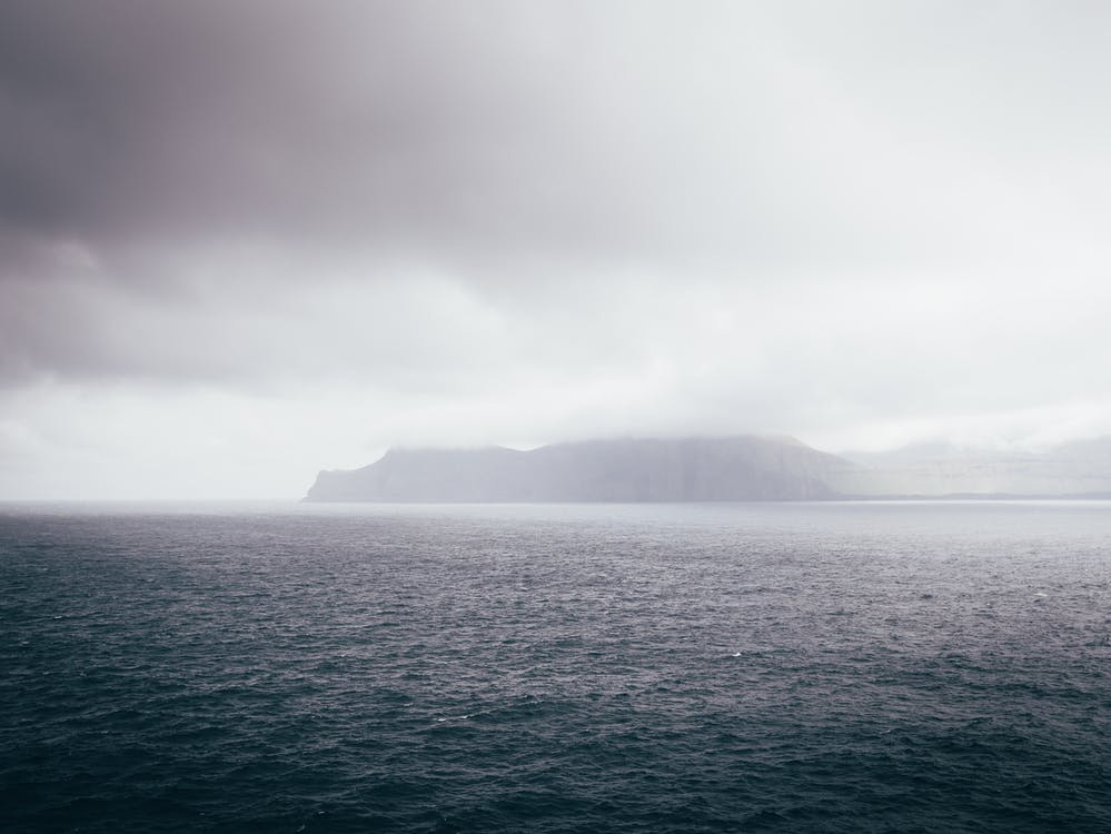 con niebla, faroe, isla