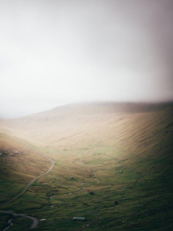 bakke, bjerg, dagslys