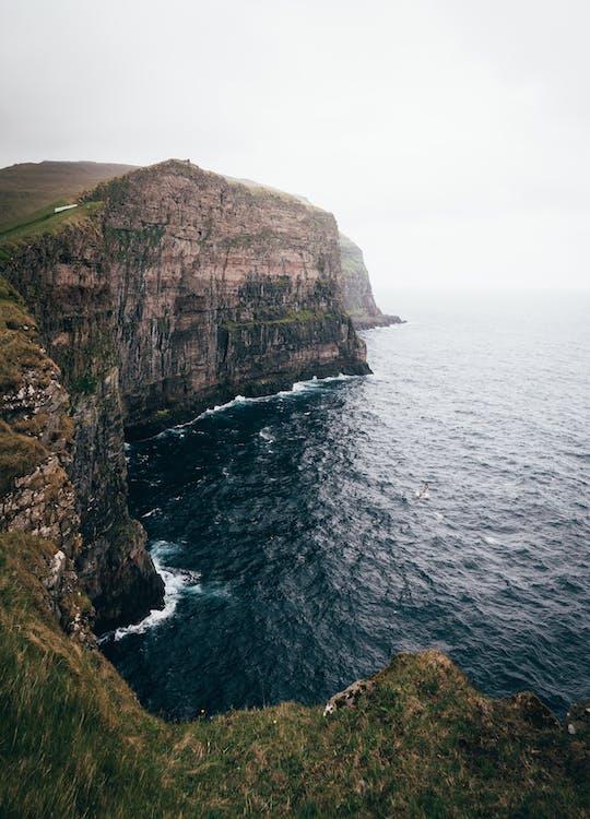 atlantischer ozean, berg, dämmerung
