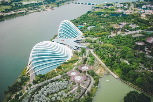 Free stock photo of aerial view, asia, gardens by the bay, singapore