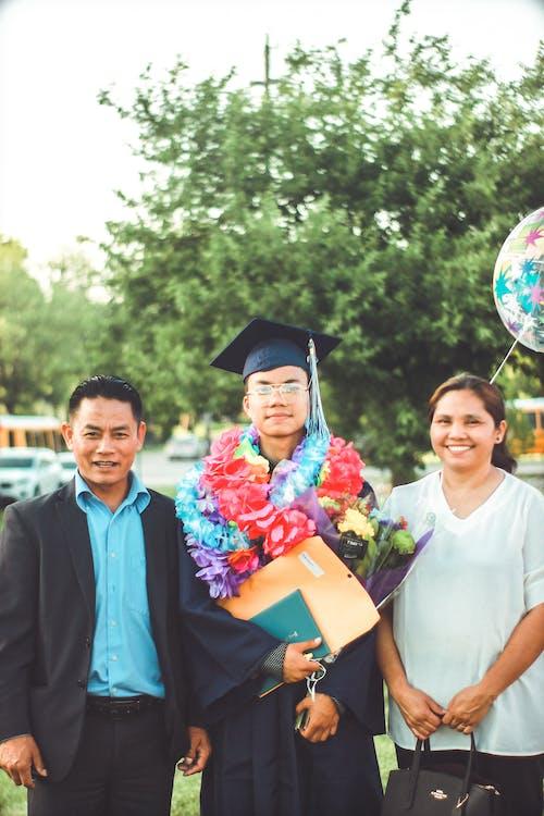 アジア人, お祝い, カレッジ