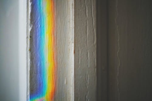 wall with rainbow colors