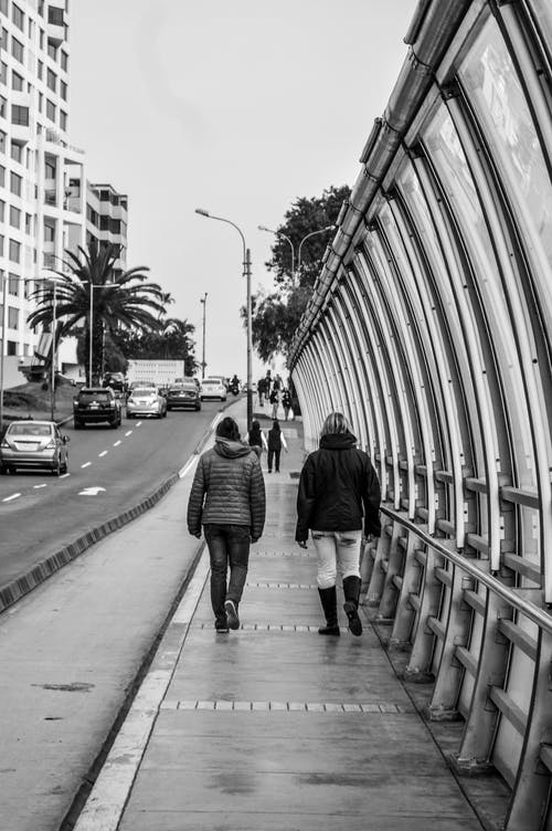 Free stock photo of black and white, city, people walking, routine