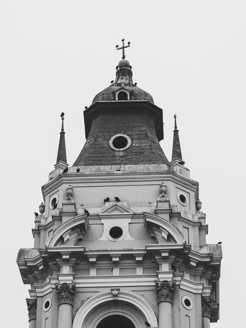 Free stock photo of black and white, cathedral, cathedral of lima, lima