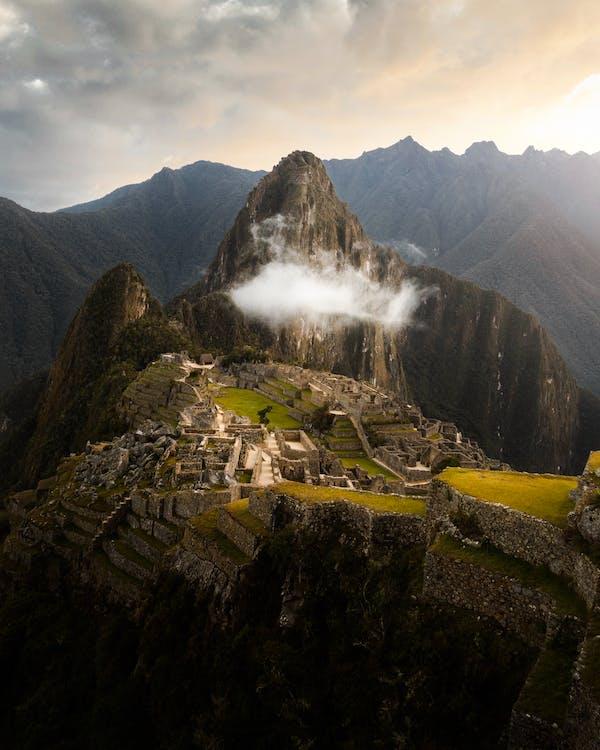 Aerial Photography of Machu Picchu in Peru