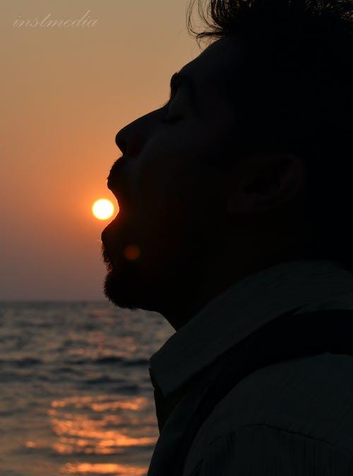 Free stock photo of beach, evening sun, mouth